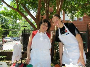 Our sandwich chef volunteers